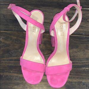 Schutz pink heels size 8.5 shoes